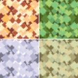 Cuatro de camuflaje abstracto de la forma y del color ilustración del vector