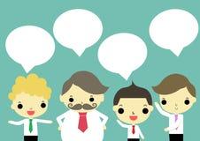 Cuatro de hablar del hombre de negocios Imagen de archivo