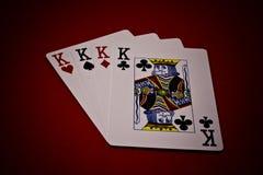 Cuatro de reyes Imagen de archivo libre de regalías