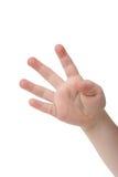 Cuatro dedos Foto de archivo