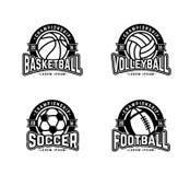 Cuatro deportes Fotografía de archivo