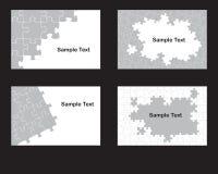 Cuatro diseños del rompecabezas Imagen de archivo libre de regalías