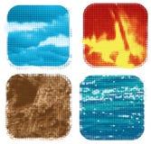 Cuatro elementos Imagen de archivo libre de regalías