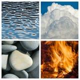 Cuatro elementos imagen de archivo