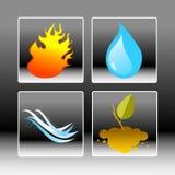 Cuatro elementos libre illustration