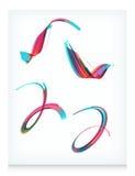 Cuatro elementos abstractos del diseño del vector Fotografía de archivo libre de regalías