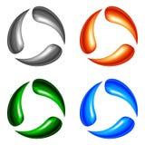Cuatro elementos de la insignia Foto de archivo libre de regalías