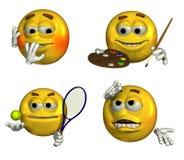 Cuatro Emoticons - 7 Imagen de archivo libre de regalías