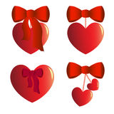 Cuatro encantos del corazón con los arcos Imagen de archivo