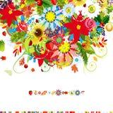 Cuatro estaciones. Cubierta de la postal para su diseño Imágenes de archivo libres de regalías