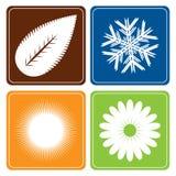 Cuatro estaciones - vector Fotos de archivo libres de regalías