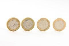 Cuatro euros fotos de archivo