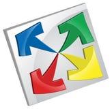 Cuatro flechas stock de ilustración
