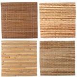 Cuatro fondos de bambú Imagen de archivo