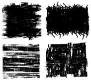 Cuatro fondos de Grunge Fotos de archivo libres de regalías
