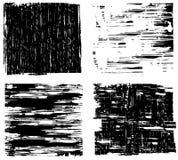 Cuatro fondos de Grunge Fotografía de archivo