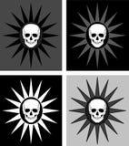 Cuatro fondos de los cráneos ilustración del vector