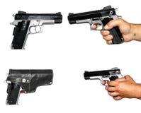 Cuatro fotos de pistolet Imagen de archivo libre de regalías