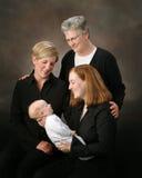 Cuatro generaciones Foto de archivo libre de regalías