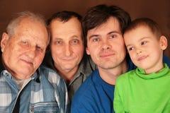 Cuatro generaciones Fotografía de archivo