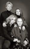 Cuatro generaciones de mujeres en una familia Foto de archivo libre de regalías