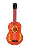 Cuatro gitary ikona, mieszkanie styl Meksykański instrument muzyczny pojedynczy białe tło Wektorowa ilustracja, sztuka royalty ilustracja