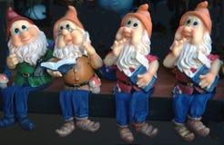 Cuatro gnomos Foto de archivo libre de regalías