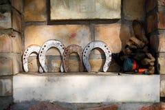 Cuatro herraduras Imagenes de archivo