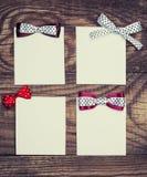 Cuatro hojas del papel en blanco Fotos de archivo libres de regalías
