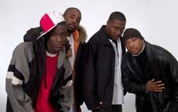 Cuatro hombres negros Imagen de archivo libre de regalías