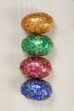 Cuatro huevos de Pascua Fotos de archivo