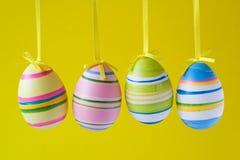 Cuatro huevos de Pascua adornados Foto de archivo