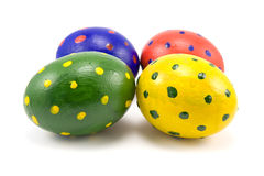 Cuatro huevos de Pascua coloridos Imagen de archivo