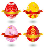 Cuatro huevos de Pascua, vector
