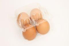 Cuatro huevos del pollo foto de archivo