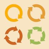 Cuatro iconos de la recarga de la flecha Imágenes de archivo libres de regalías