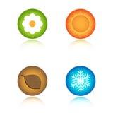 Cuatro iconos de las estaciones Imagen de archivo