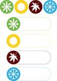 Cuatro iconos de las estaciones Fotografía de archivo