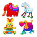 Cuatro juguetes divertidos Foto de archivo libre de regalías