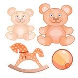 Cuatro juguetes fijados Fotografía de archivo libre de regalías