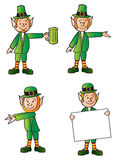 Cuatro Leprechauns Imagenes de archivo