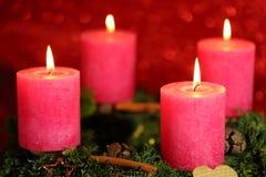 Cuatro llamas Imágenes de archivo libres de regalías