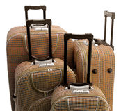 Cuatro - maletas del recorrido Imagen de archivo libre de regalías