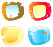 Cuatro marcos 1 Ilustración del Vector