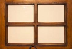 Cuatro marcos de madera Foto de archivo