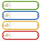 Cuatro marcos para el texto que entra con los tornillos Imagen de archivo