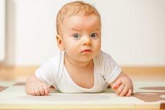 Cuatro meses del bebé Fotografía de archivo