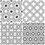 Cuatro modelos abstractos inconsútiles de la malla stock de ilustración