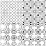 Cuatro modelos florales inconsútiles de la malla ilustración del vector