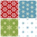 Cuatro modelos inconsútiles de la Navidad Imágenes de archivo libres de regalías